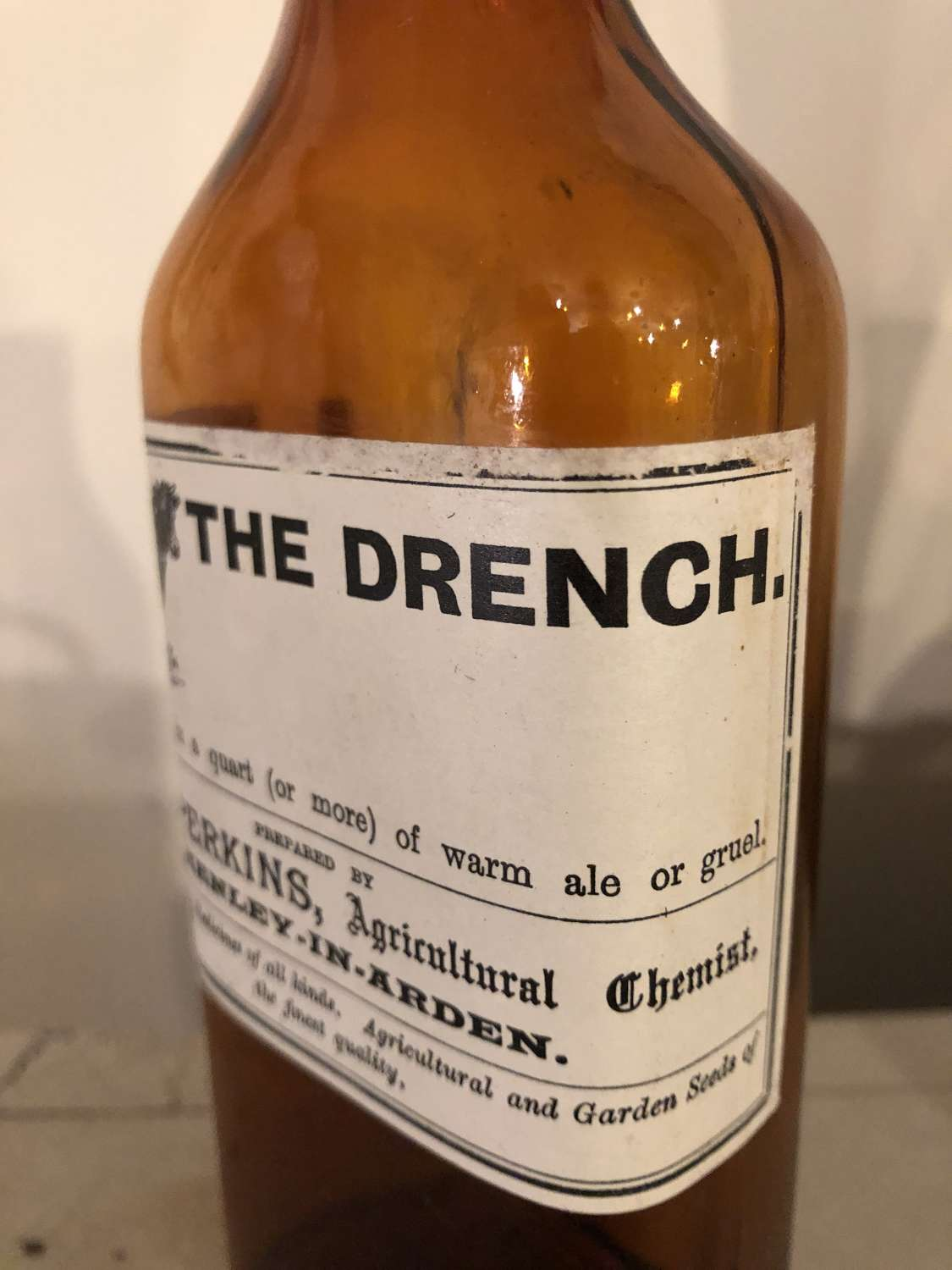 THE DRENCH medicine bottle