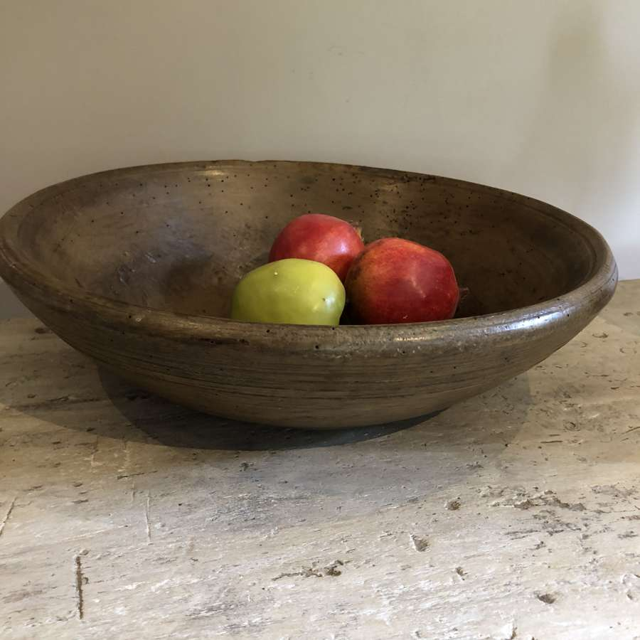 19th Cent Sycamore Dairy Bowl