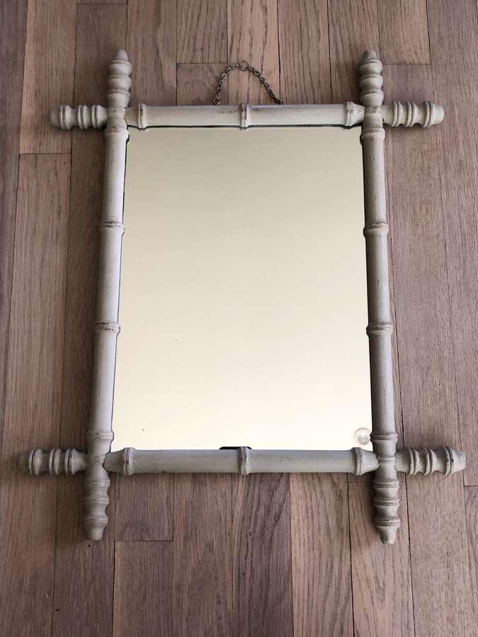 Painted Bamboo Mirror