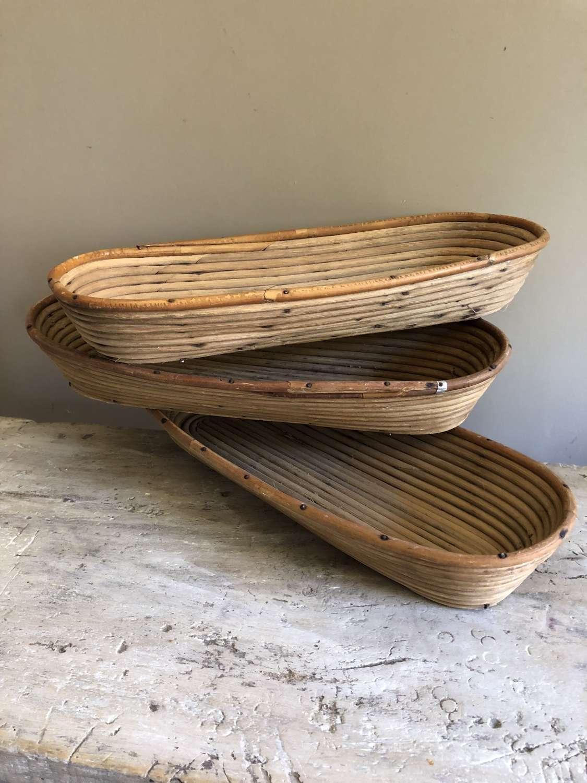Vintage Bread Proving Baskets