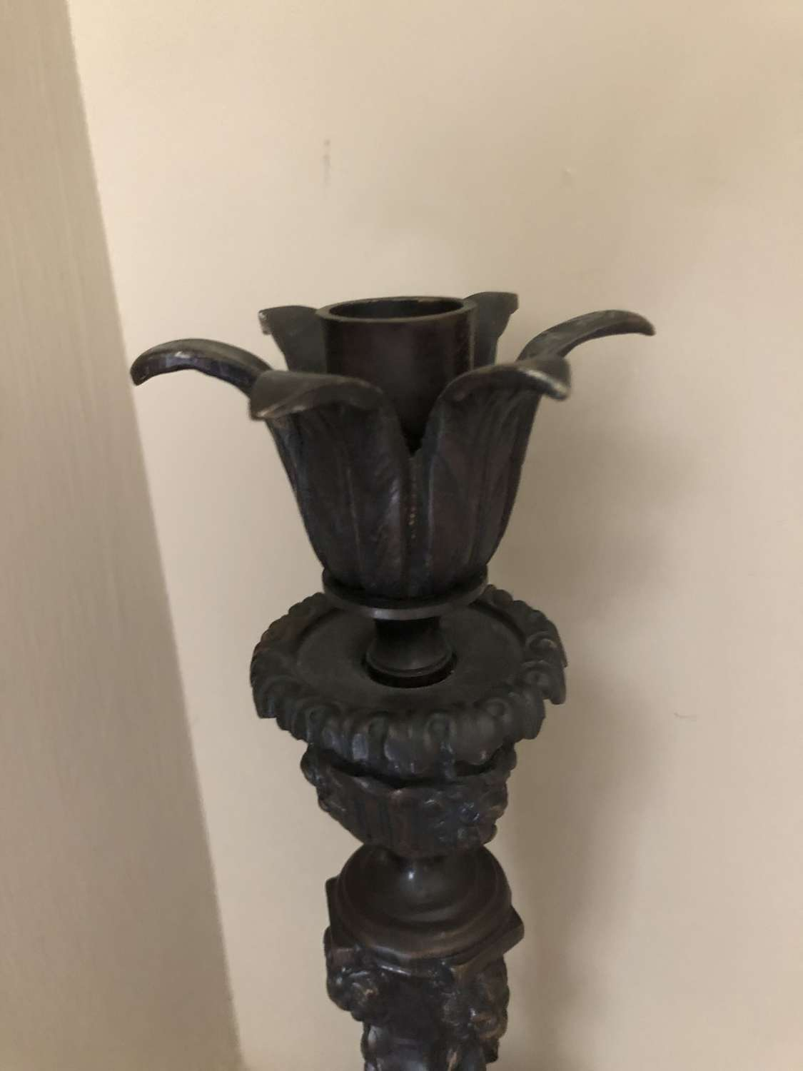 French Bronze Candlestick