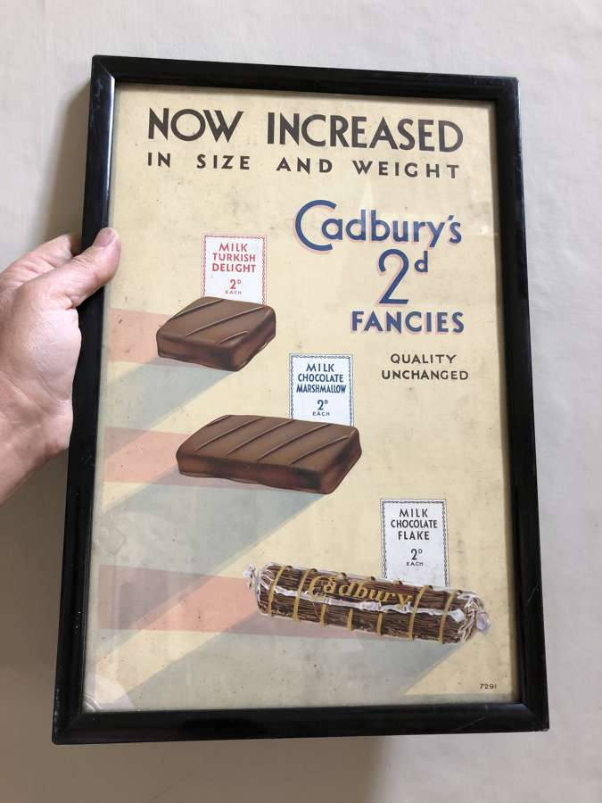 Framed Cadbury's Chocolate Advert