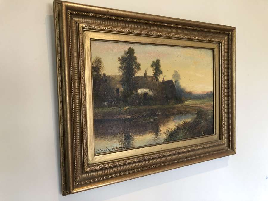 19th Cent Oil Painting by Charles McKinley