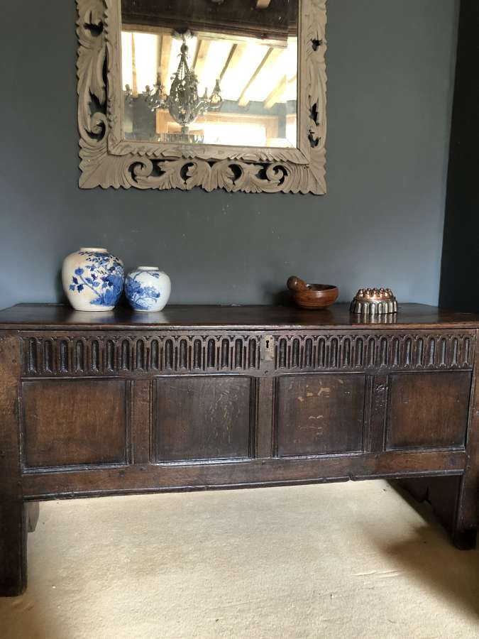 18th Cent English Oak Coffer