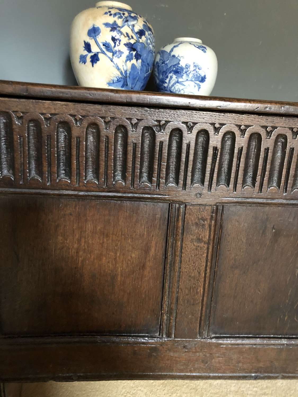 18th Cent English Oak Coffer