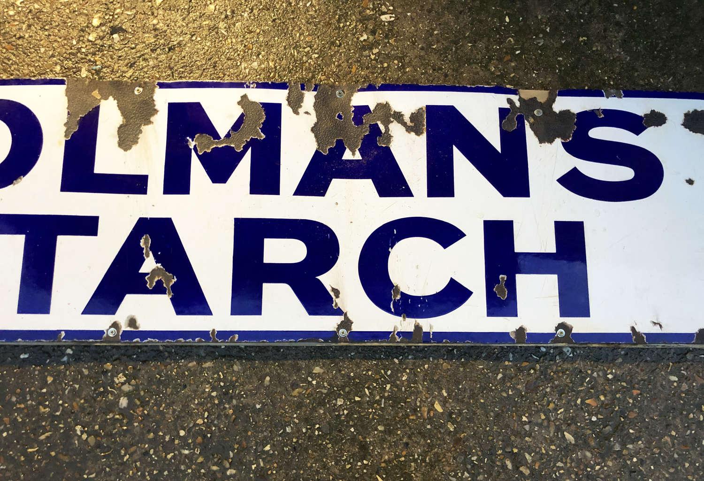 Colmans Starch Enamel Sign