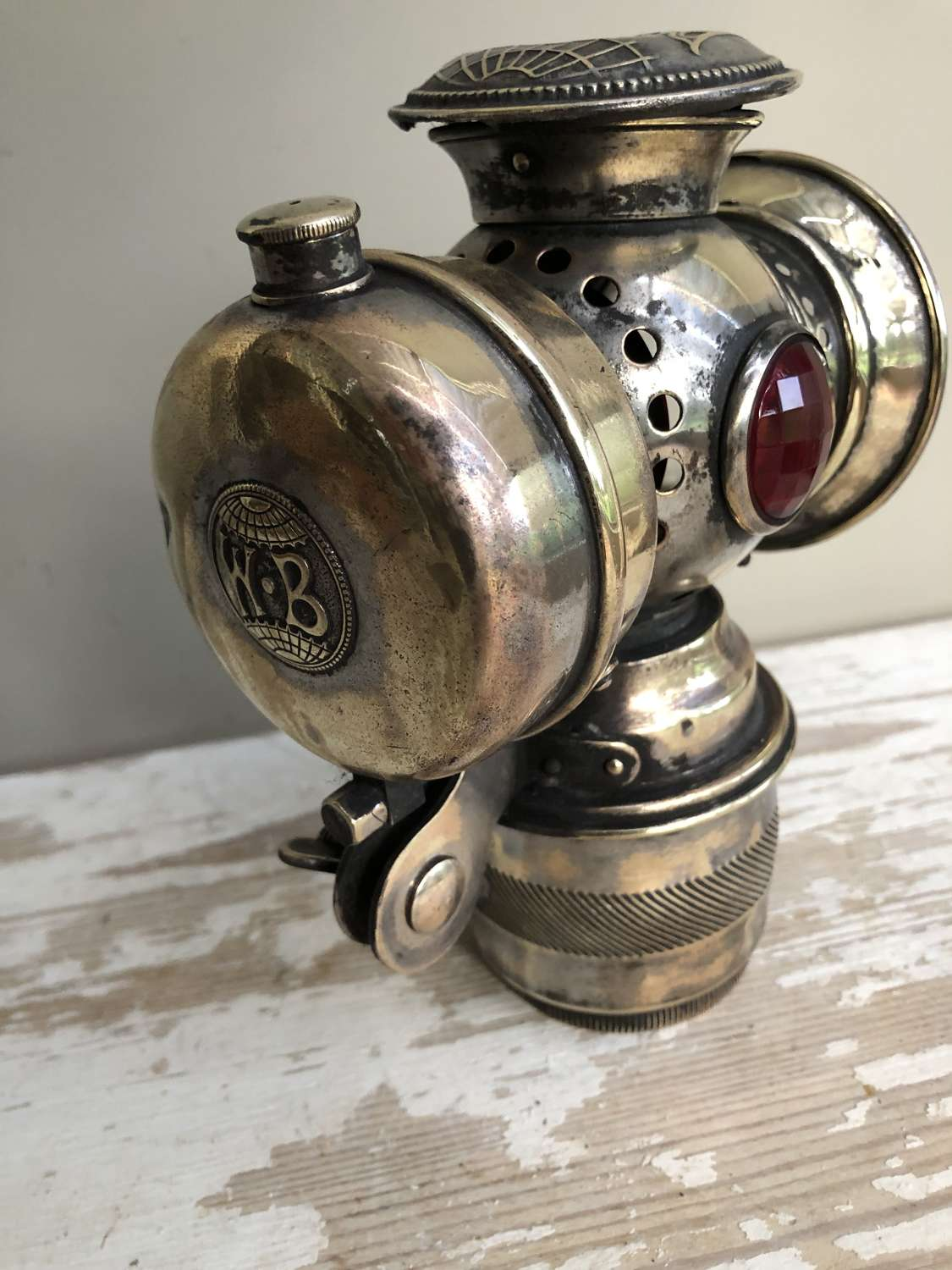 Brass Belgia Motorcycle Lamp