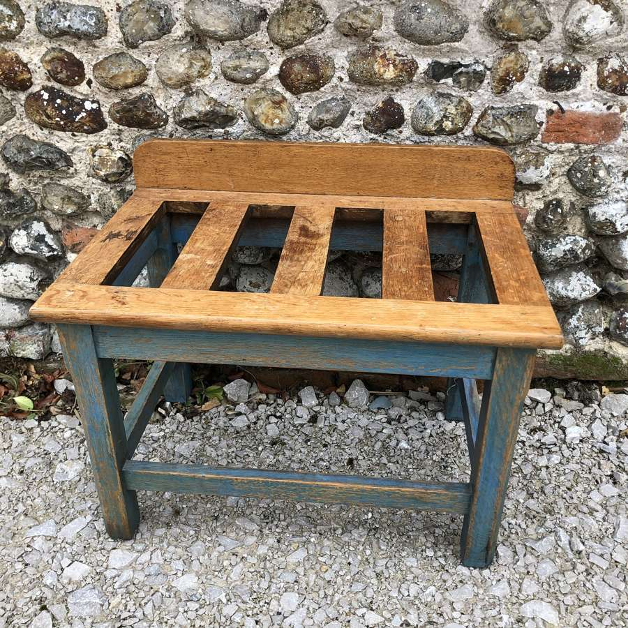 Antique Oak Luggage Rack