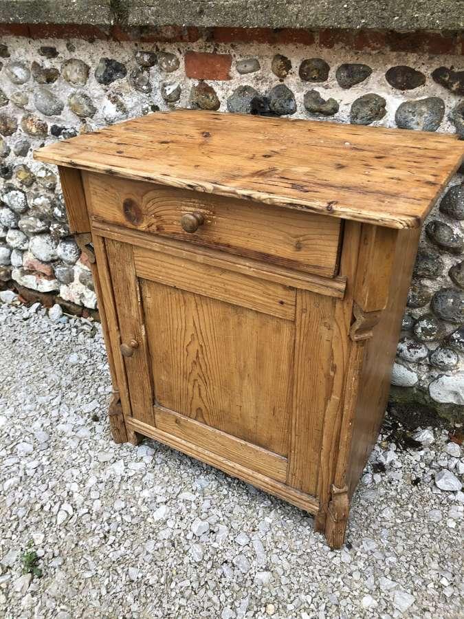 Victorian Pine Bedside Cupboard