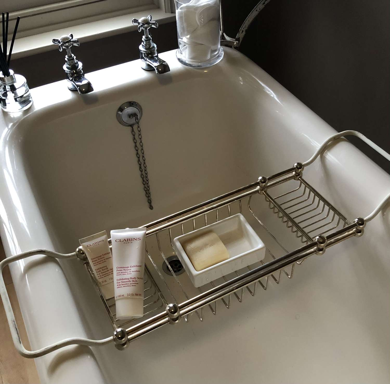 Vintage Brass Bath Rack