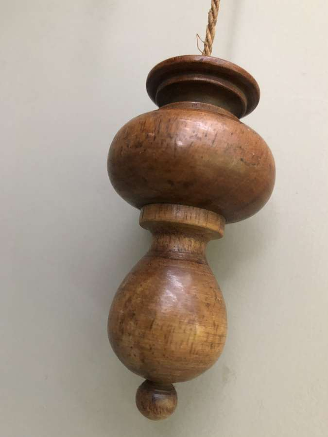 Antique Treen Light Pull