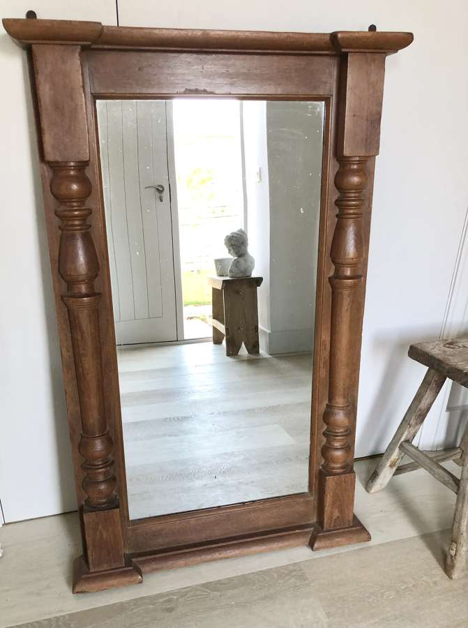 Large Mirror with Pillared Sides