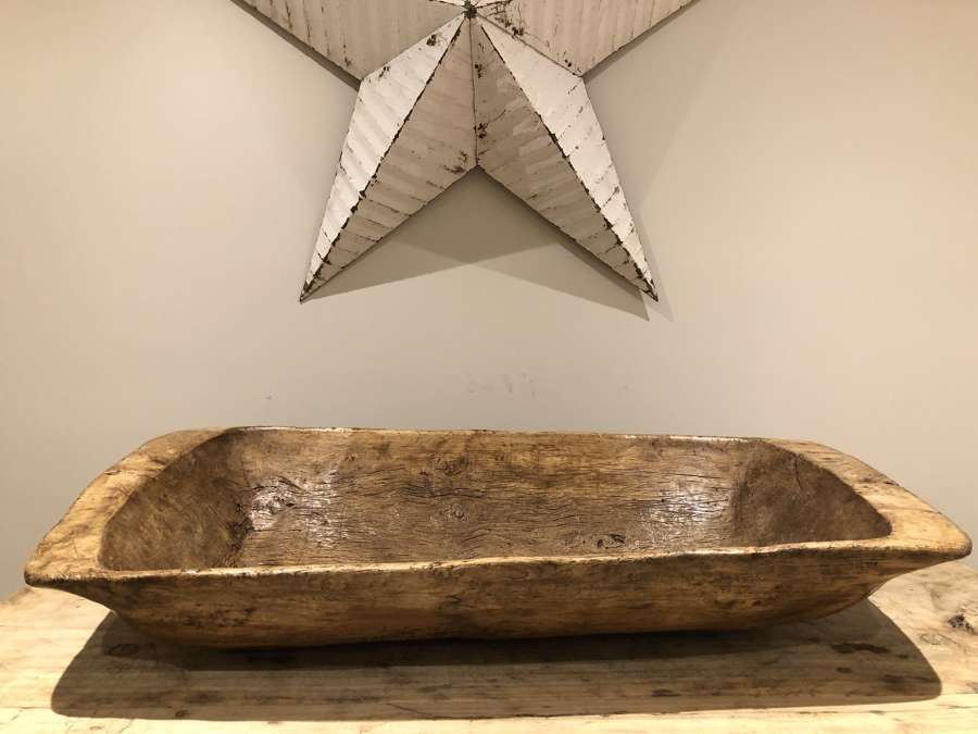 Exceptional 19th Cent Elm Salting Trough