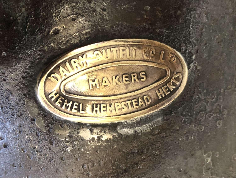 Patent Non Spill Milking Bucket