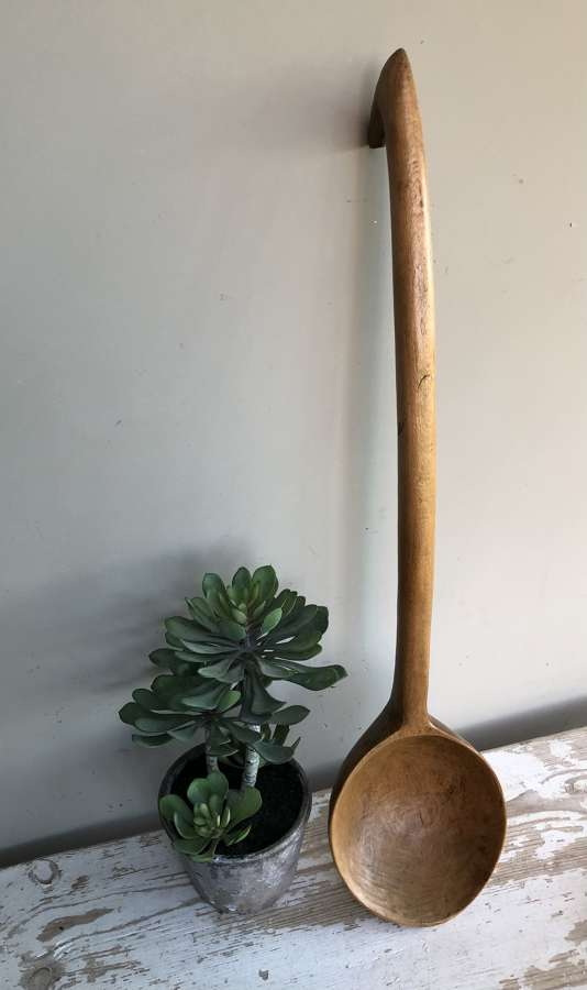 Very Large Wooden Ladle