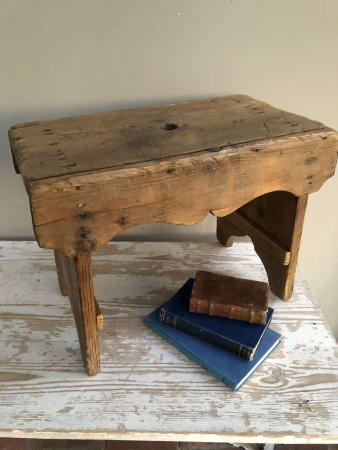 Large Pine Cottage Stool
