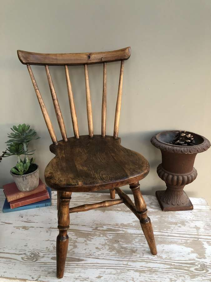 Antique Child's 'Fiddle-base' Chair