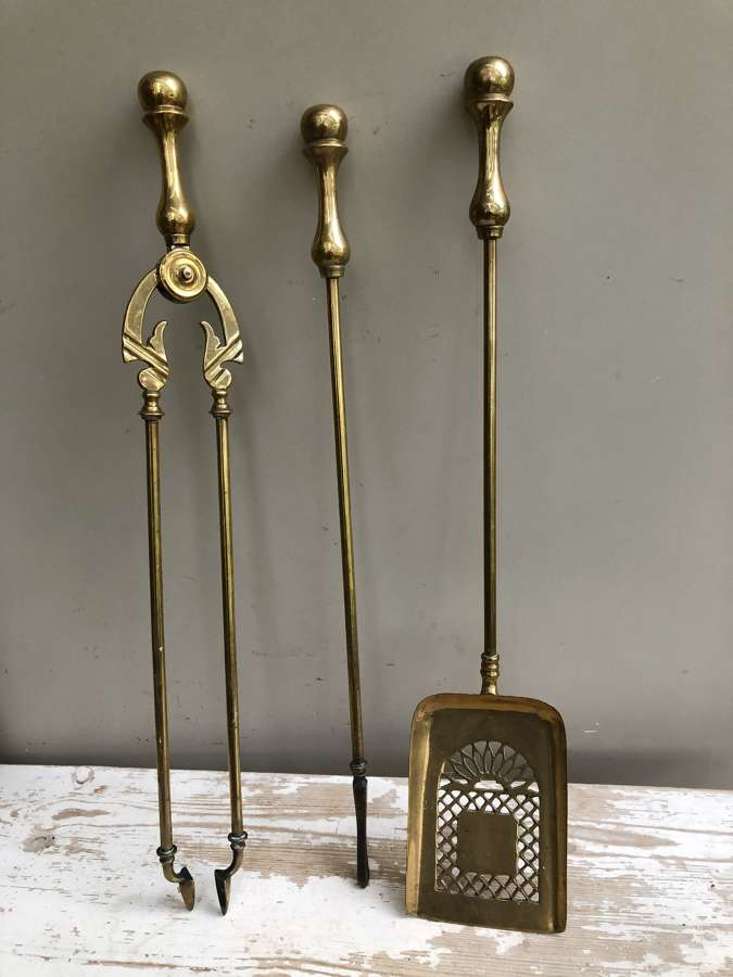 Matching Set of Victorian Fire Irons