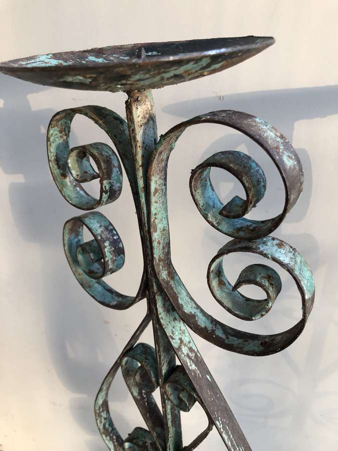 Large Wrought Iron Candle Holders