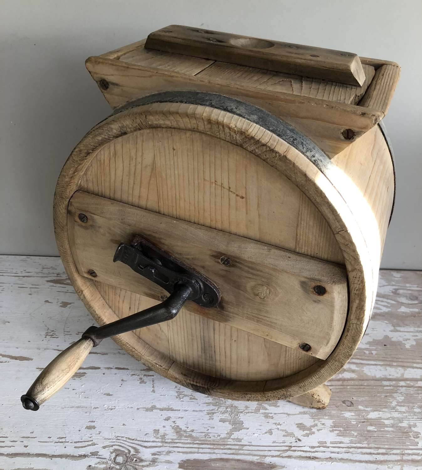Small Size Pine Table Top Butter churn