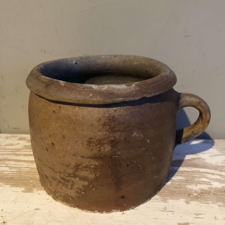 Smaller Size Brown Confit Pot