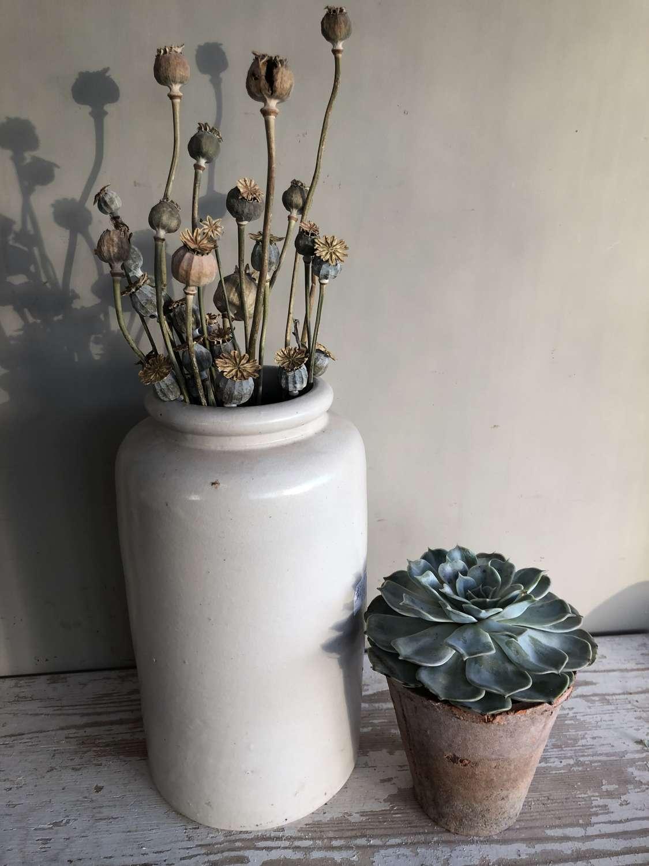 Large Tall Grey Confit Pot