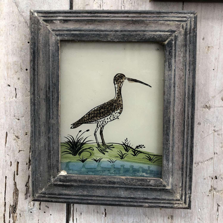 3 x Mini Glass Paintings (Birds)