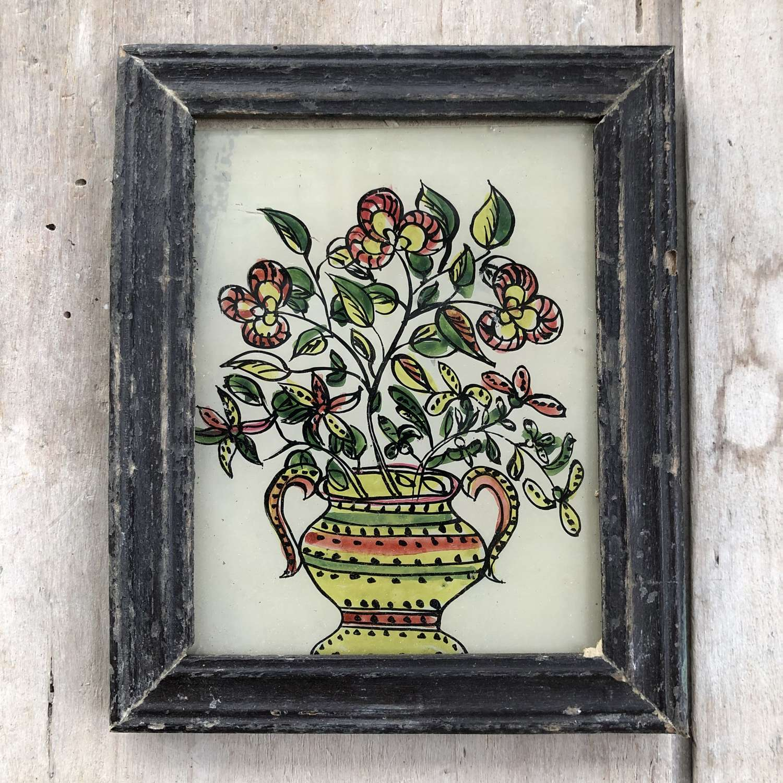 3 x Mini Glass Paintings (Botanical)