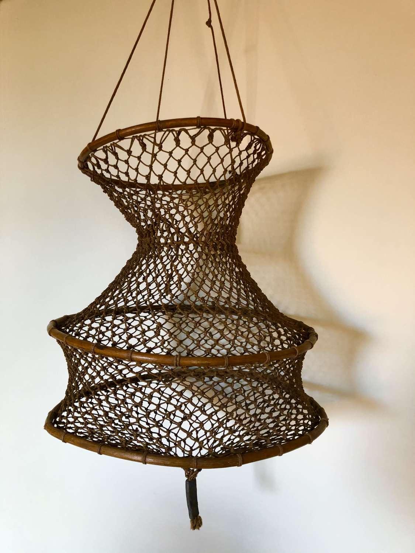 Rare Antique Norfolk Crayfish Net