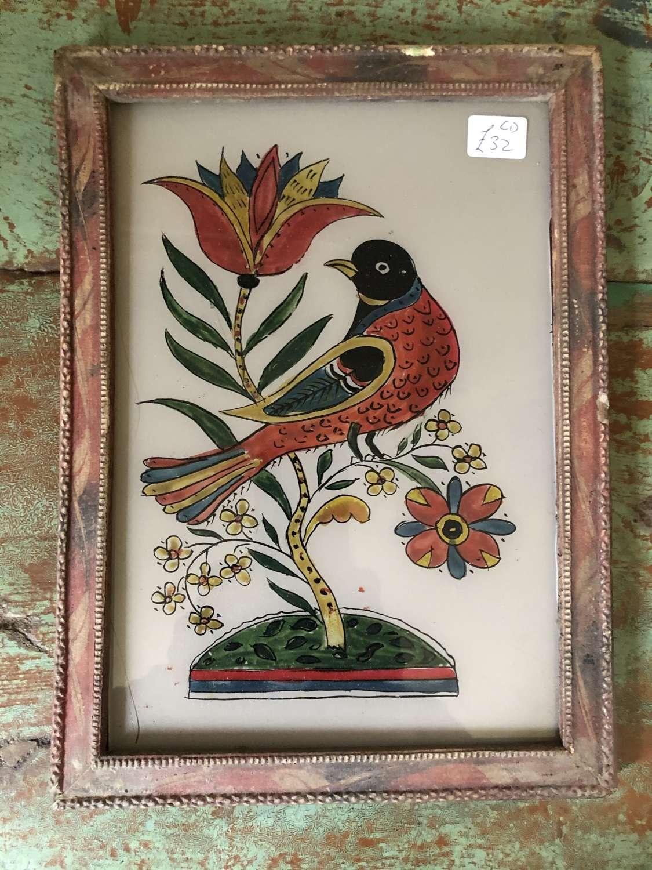 Medium Size Glass Paintings BIRDS