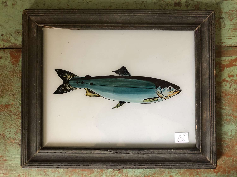 Medium Size Reverse Glass Paintings Fish & boats