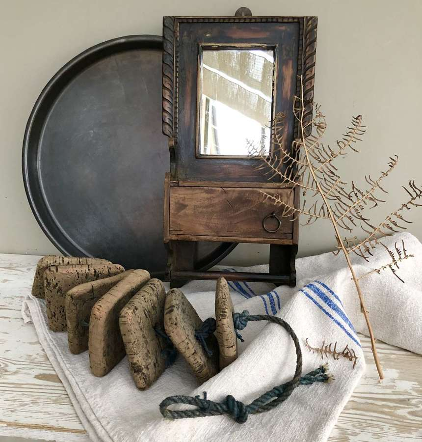 Antique Gentleman's Shaving Mirror