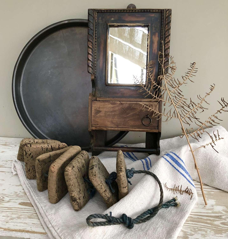 Antique Gentleman's Shaving Mirror