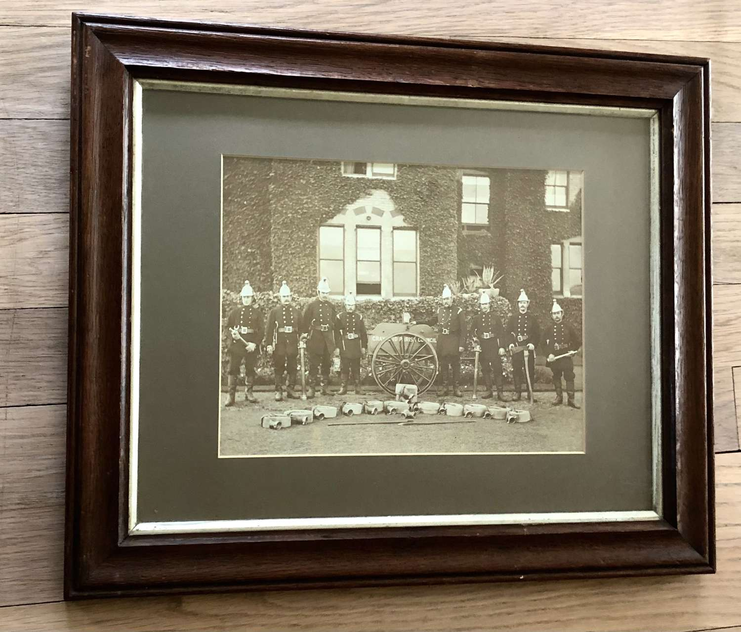 Original framed Firemen Photo c.1900