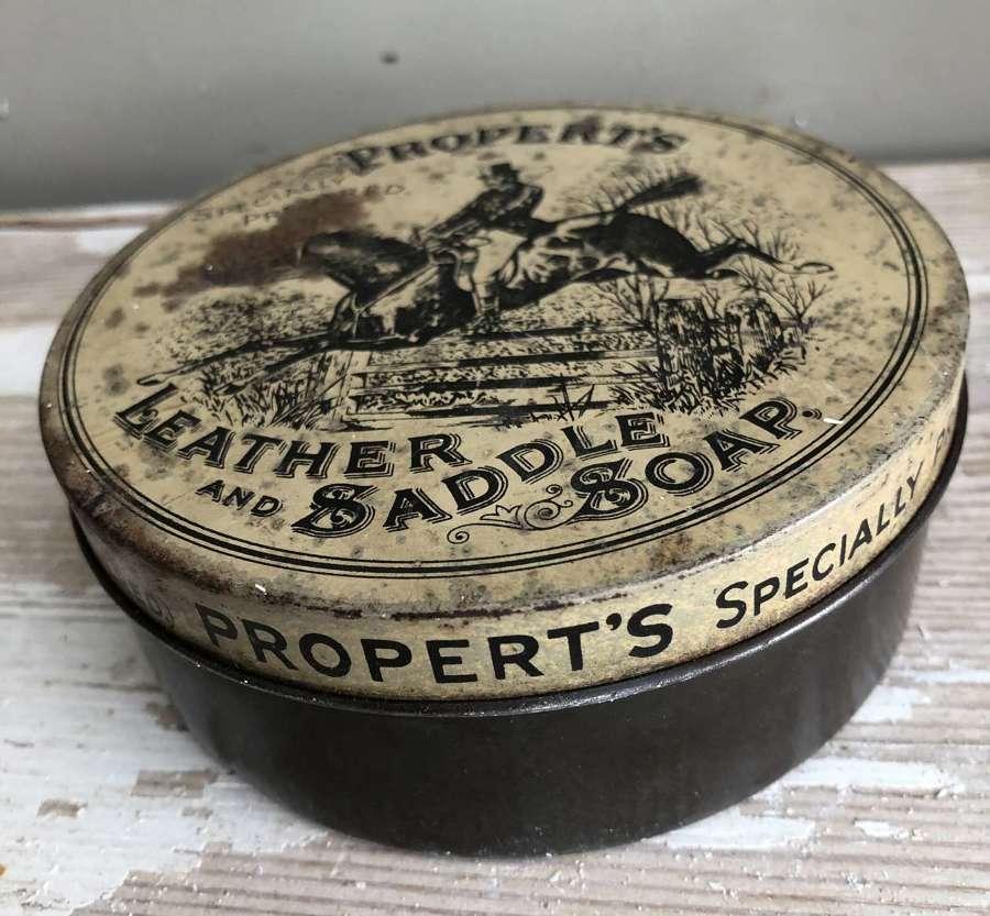 Vintage Saddle Soap Tin