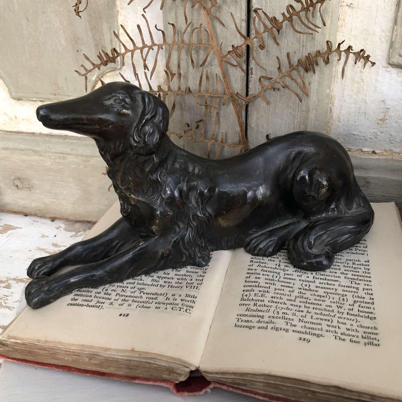 Antique Spelter Figure Saluki Dog