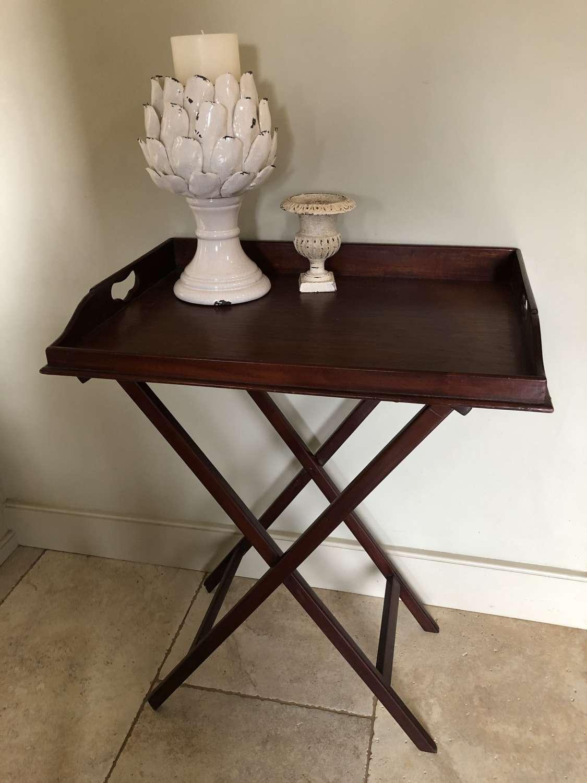 Antique Mahogany Butler's Tray Table