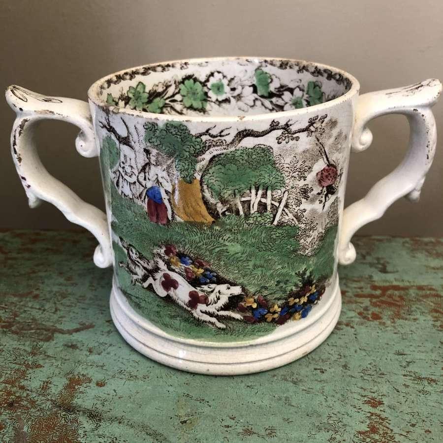 19the Cent two Handled Cider Mug