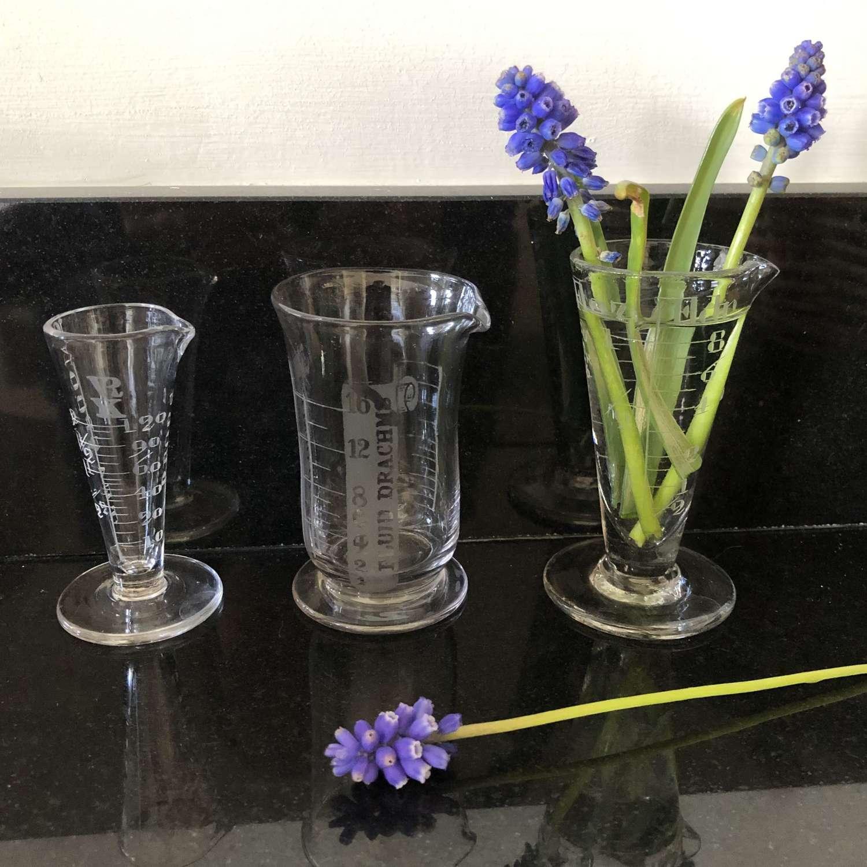 3 x Graduated Glass measures