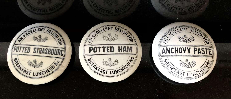 Large White Ironstone Pot lids