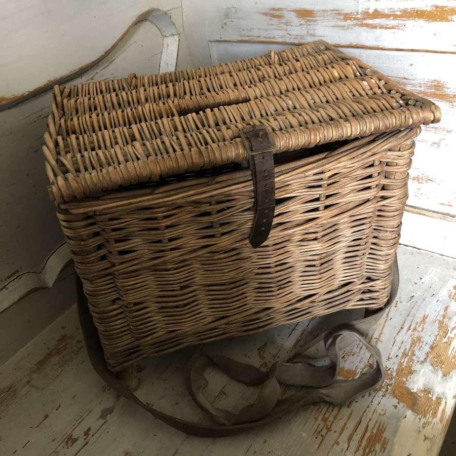 Vintage Fishing Basket on legs