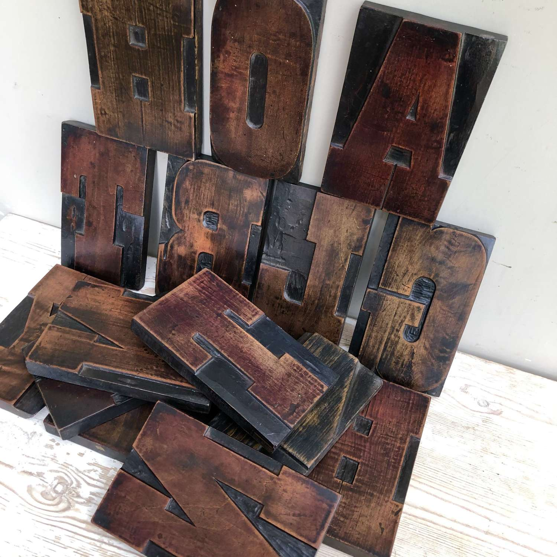 Victorian Wood Block Type