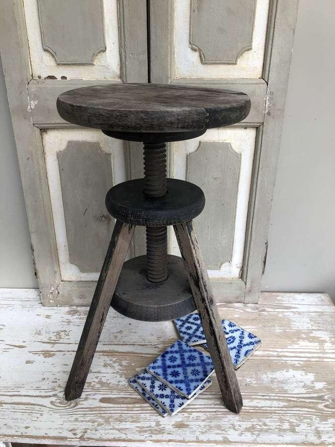 Vintage revolving sculpture stand