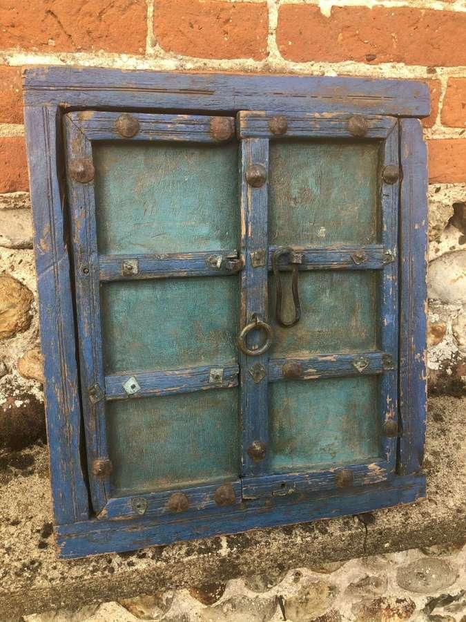 Small Blue Shuttered Window (mirror)