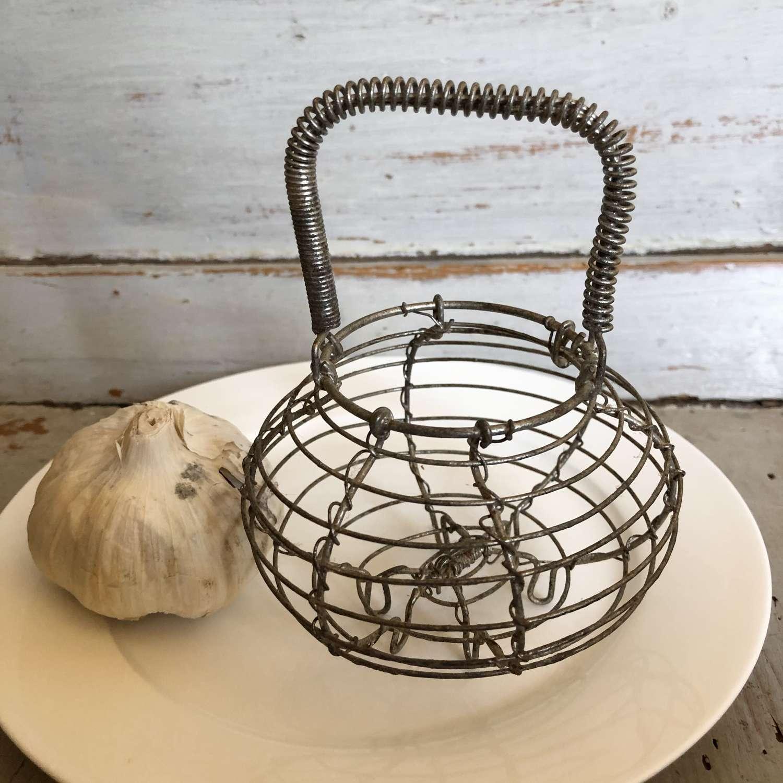 Vintage Kitchen Garlic Basket