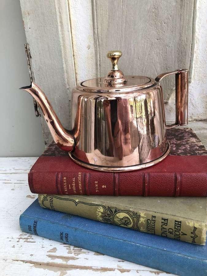 Scarce Victorian Copper Teapot