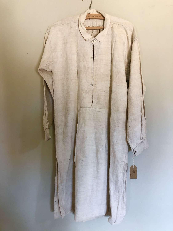 Antique Linen Farm Smock Shirt