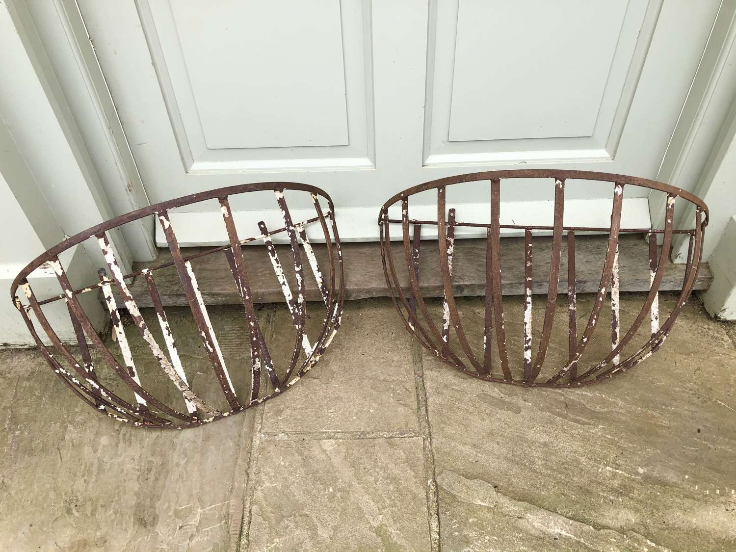 Pair of Iron Hay Baskets