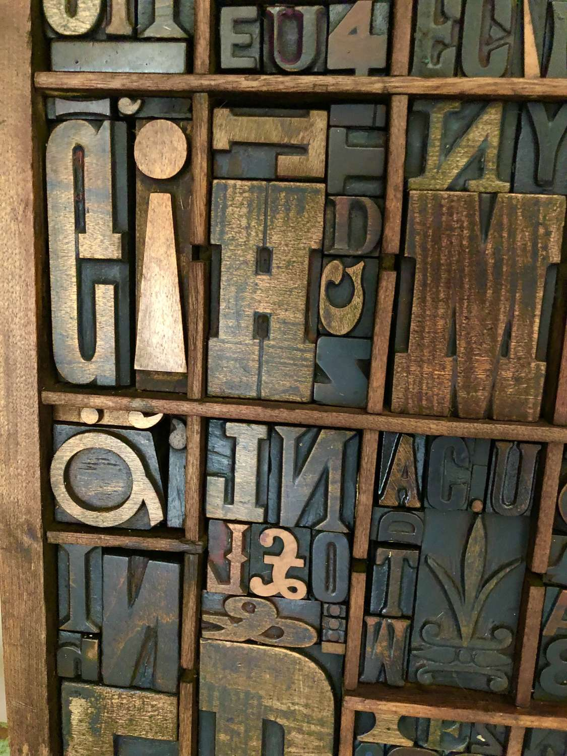 Printer's Wood Type Tray (small)
