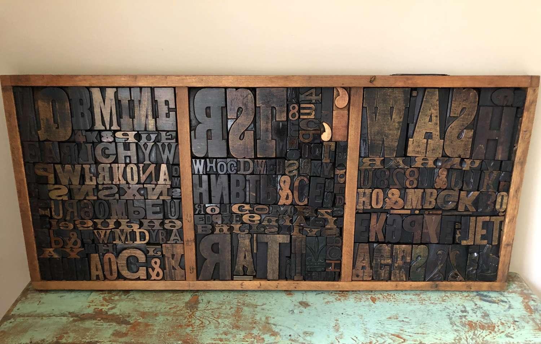 Large Display Printer's Wood Type